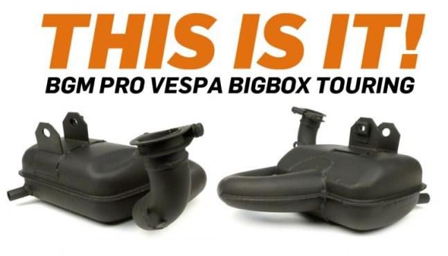 bgm BigBox Touring DER – Touren Auspuff für Vespa jetzt lieferbar