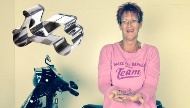 Rollerfahrer Geschenkidee – Plätzchen Back-Ausstechform Vespa
