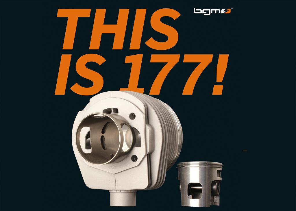 THIS IS 177 bgm Vespa 177 Cylinder