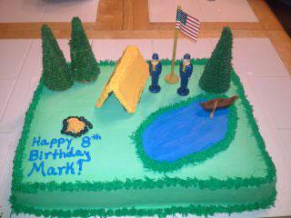 12 Camping Scene Cake