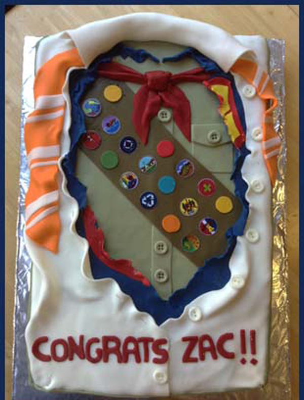 Cake Decorating Honor Pathfinders : 10 Eagle Scout cakes that ll make you say  Sweet!