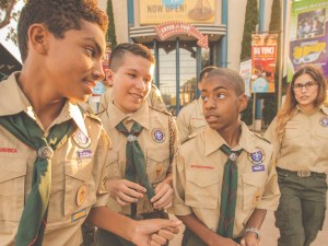 Boy Scouts on a field trip featured