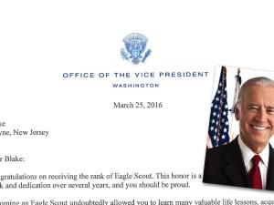 Joe Biden Eagle Scout letter featured