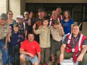 Pack 1292 Houston flooding relief