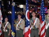 Troop 605 flags at RNC