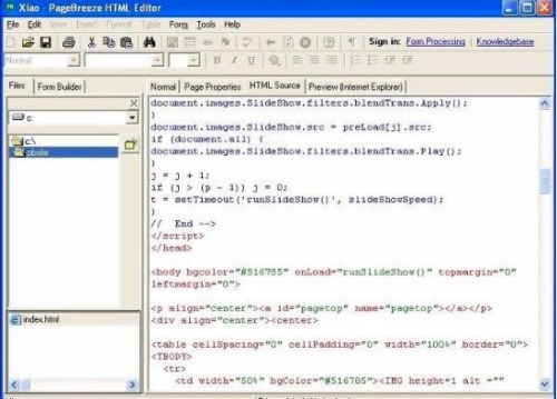 pageBreeze-html-editor