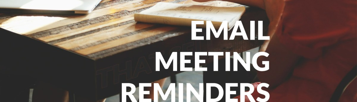 Using email reminder as a sales tool