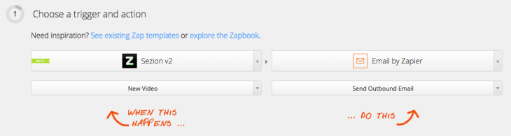 Sending a personalized video by email is really easy using Sezion's integration with Zapier