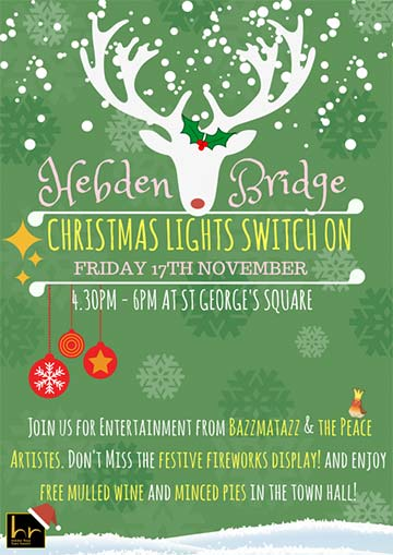 Christmas 2017 Hebden bridge lights