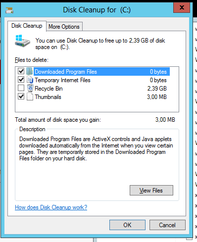 Disk Cleanup za Windows Server 2008/2012