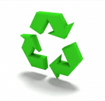 The green recycle symbol. Taken from http://www.sxc.hu/photo/1266576.