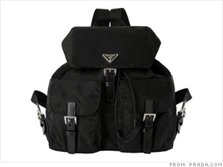 prada backpack, prada