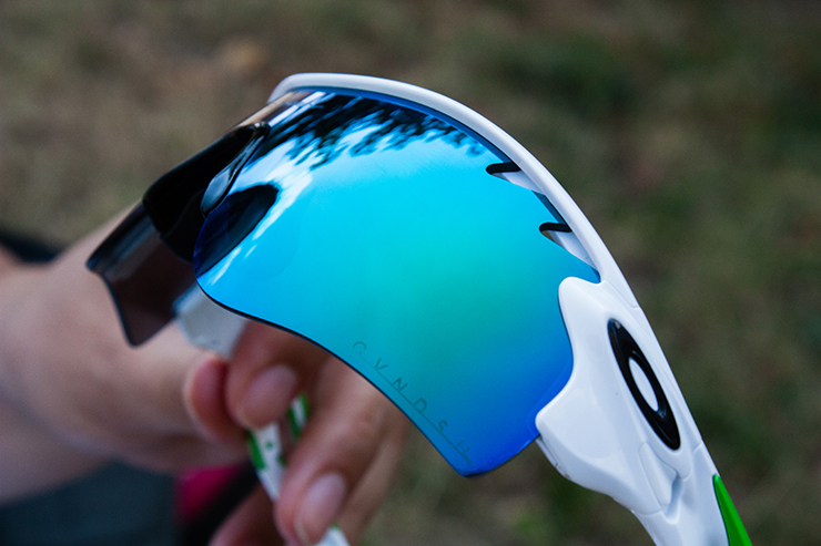 Cycling glasses with ventilation