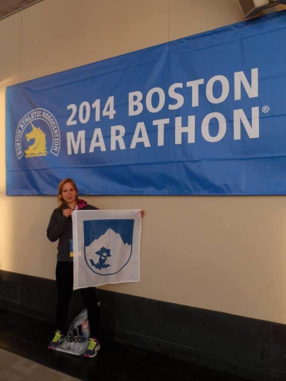 Hrdá Tatranka na bostonskom maratóne v roku 2014