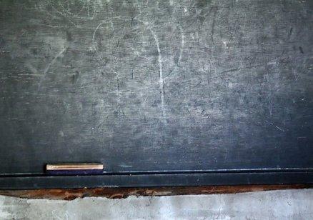 A very old school house chalk board