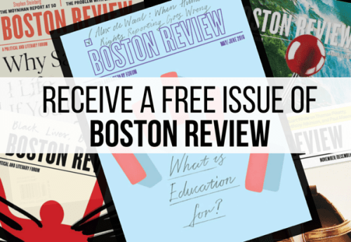 Receive a Free Issue of Boston Review