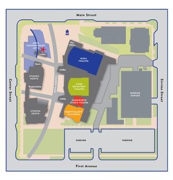 Mesa Arts Center Map