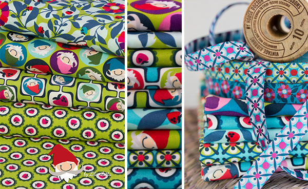 Die Carlitos Kollektion umfasst 9 Stoffe in den Farbwelten Blau und Grün
