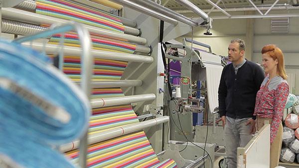 Eine von vielen Doubliermaschinen bei Swafing