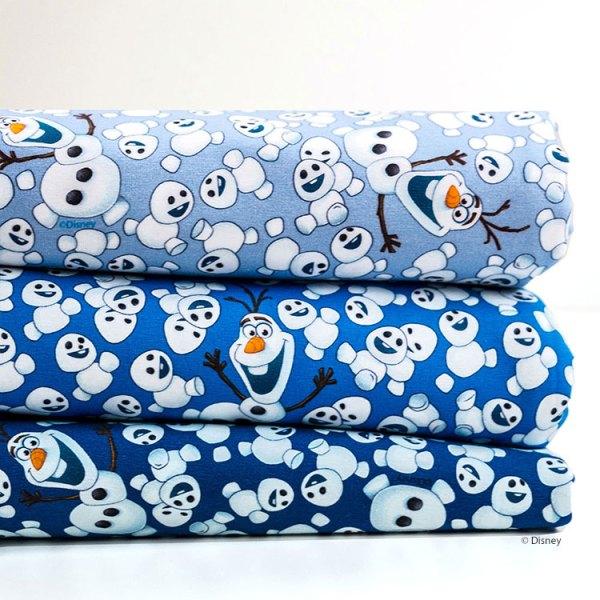 Jersey mit Olaf - Disney Stoffe Frozen - Die Eiskönigin