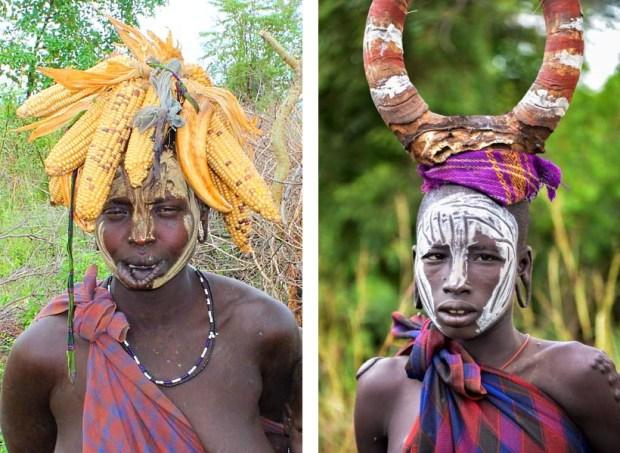 Mursi Dressing Accesories - (1) - Limboko ... (2)- Mursi Woman, Mago-Rod Waddington/Flickr -- CC BY-SA 2.0.jpg