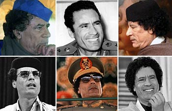 Gaddafi through the years