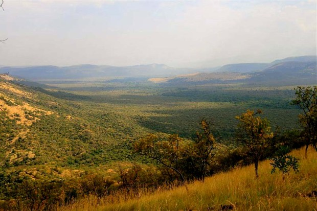 Landscape over southern Ethiopia