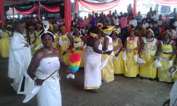 Various dance performance during the burial ceremony of Ogeime Atuwaste II at Ode-Itsekiri
