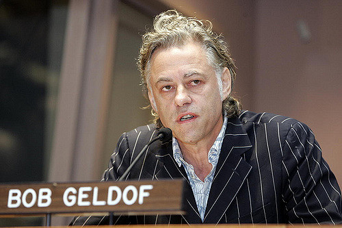 Bob Geldof and Band Aid raised US$150 million for the victims of famine in Ethiopia. Credit: Flickr / UN Photo