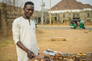 The name 'suya' is said to be an Hausa word which means 'to fry' but the words can perhaps also be explained by the involuntary sound that escapes from the mouth upon relishing a pi