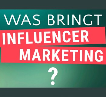 Neue Influencer Marketing Effizienzstudie