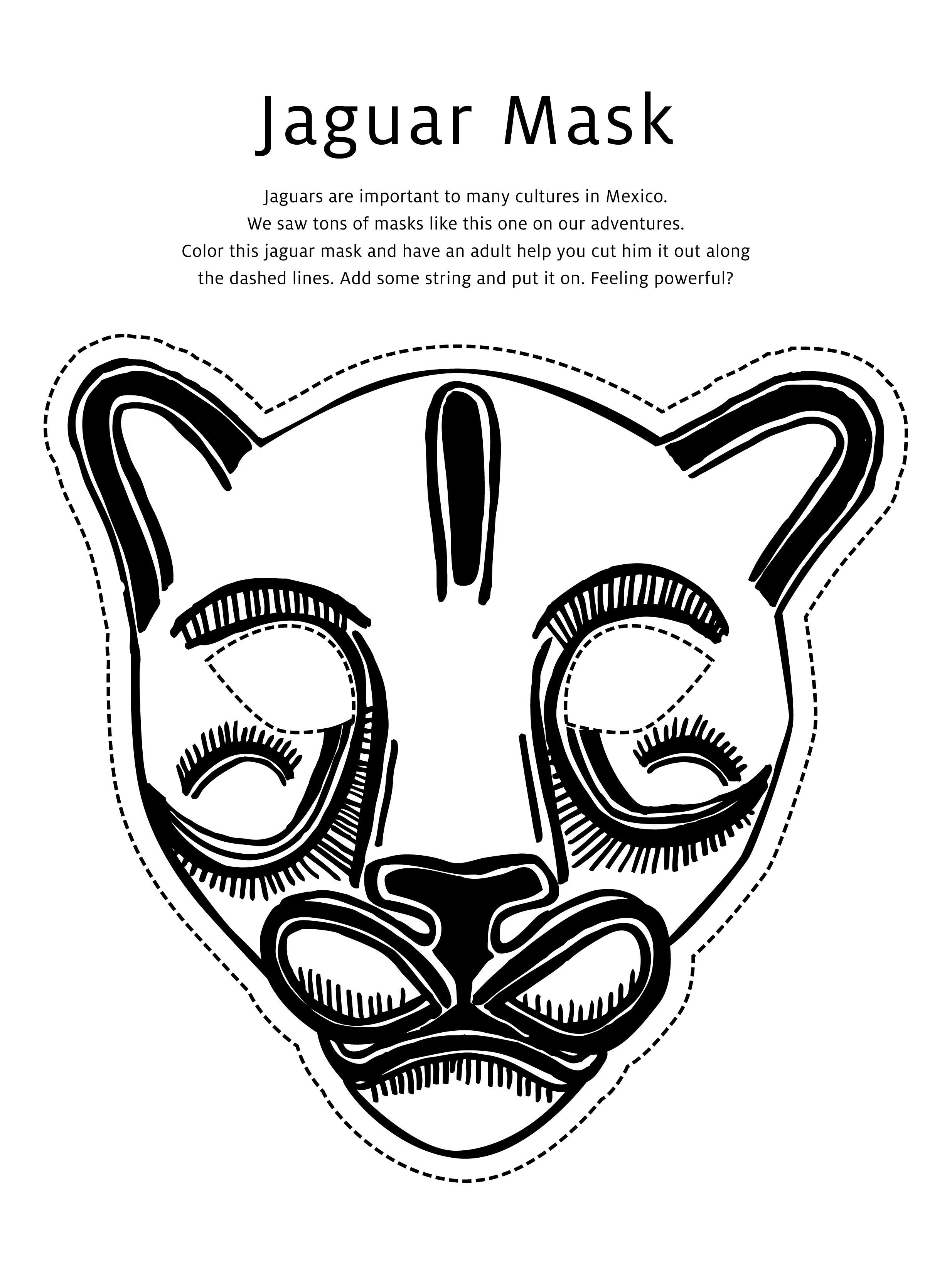 Jaguar amp Butterfly Masks Activity