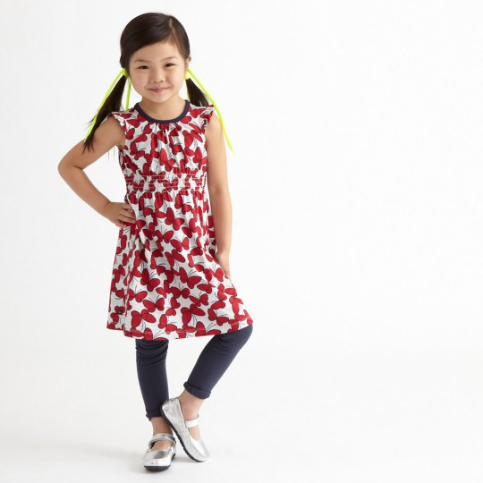 Butterfly Dot Girls Dress