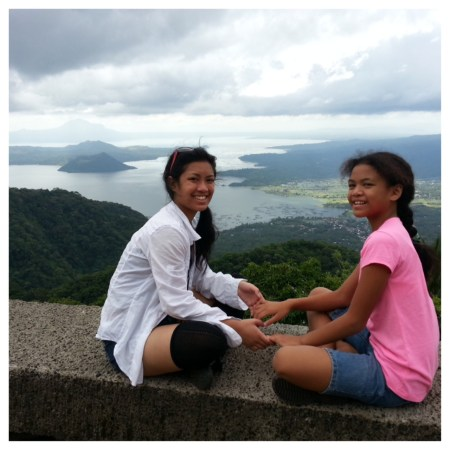 Taal Volcano in the distance