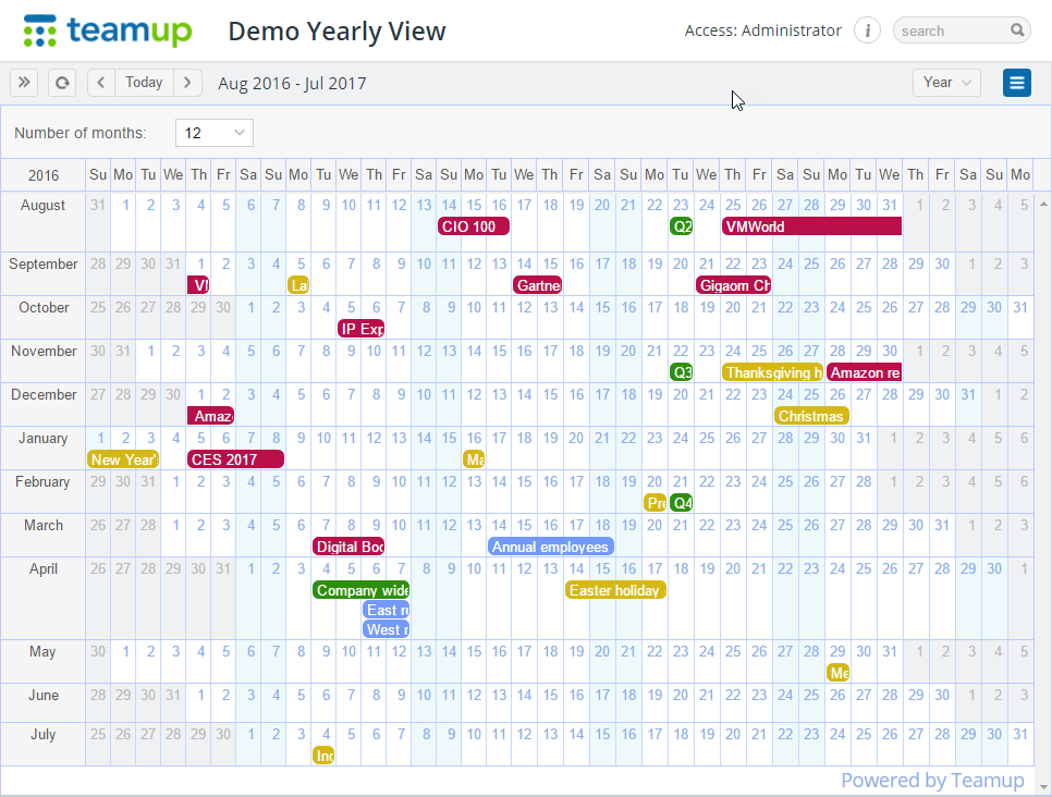 Calendar Year Quota Share : Teamup calendar news tips and stories organizing