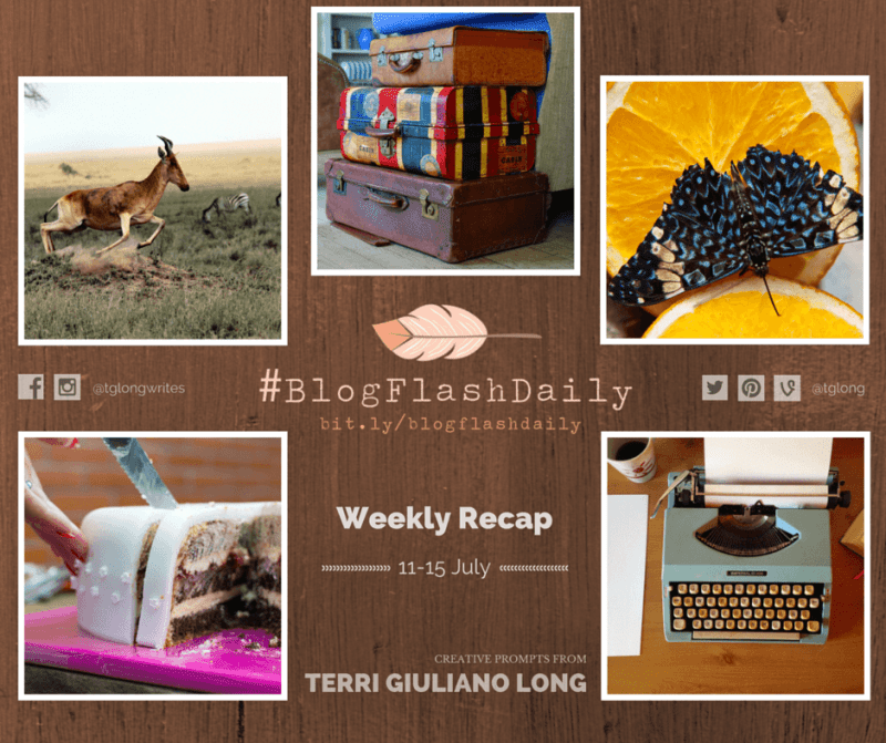#BlogFlashDaily Writing Prompts Weekly Recap: 11 to 15 July