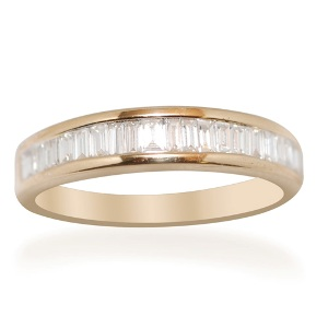 ILIANA IGI Certified Diamond (Clarity SI, Colour G to H) 18K Y Gold Eternity Ring0.50 Ct.