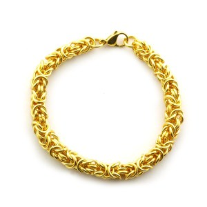 You are sure to sparkle wearing this stunning Byzantine bracelet in ION gold plated stainless steel. Today's Price £9.99