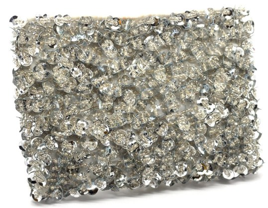 Glitz and glam - beaded clutch