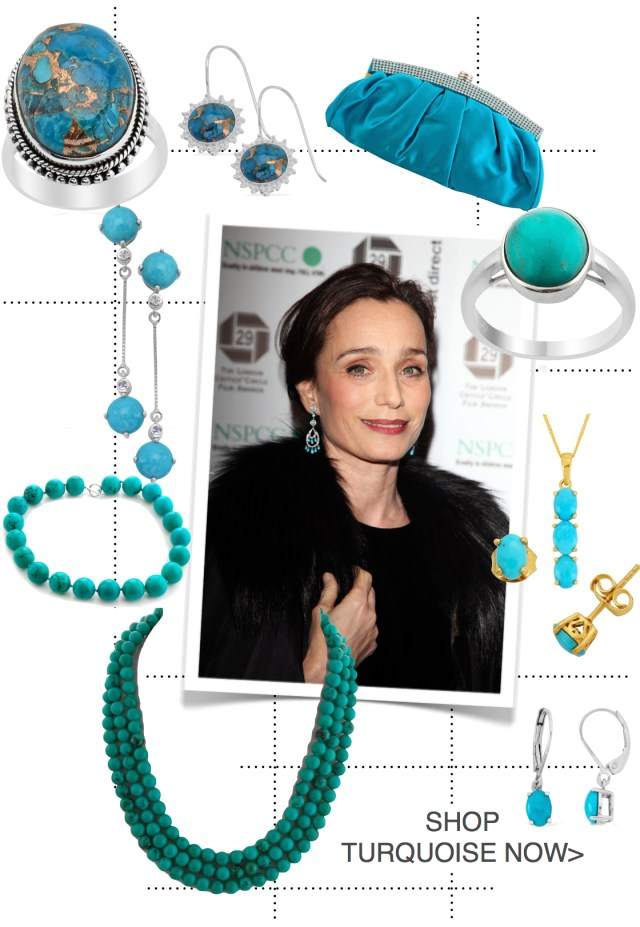 Kristin Scott Thomas - Turquoise Jewellery