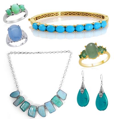 Blue and Green Jewellery small