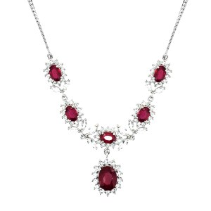AFRICAN RUBY (OVL 2.76 CT), WHITE TOPAZ