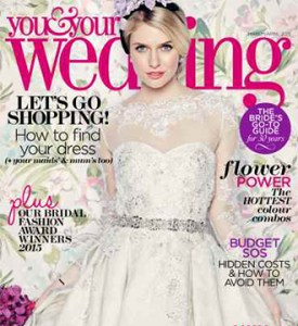 Gorgeous Modern Bride at You and Your Wedding April Edition Cover Photo