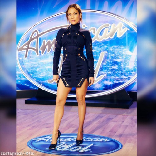 Jennifer Lopez steals the show in structured mini dress