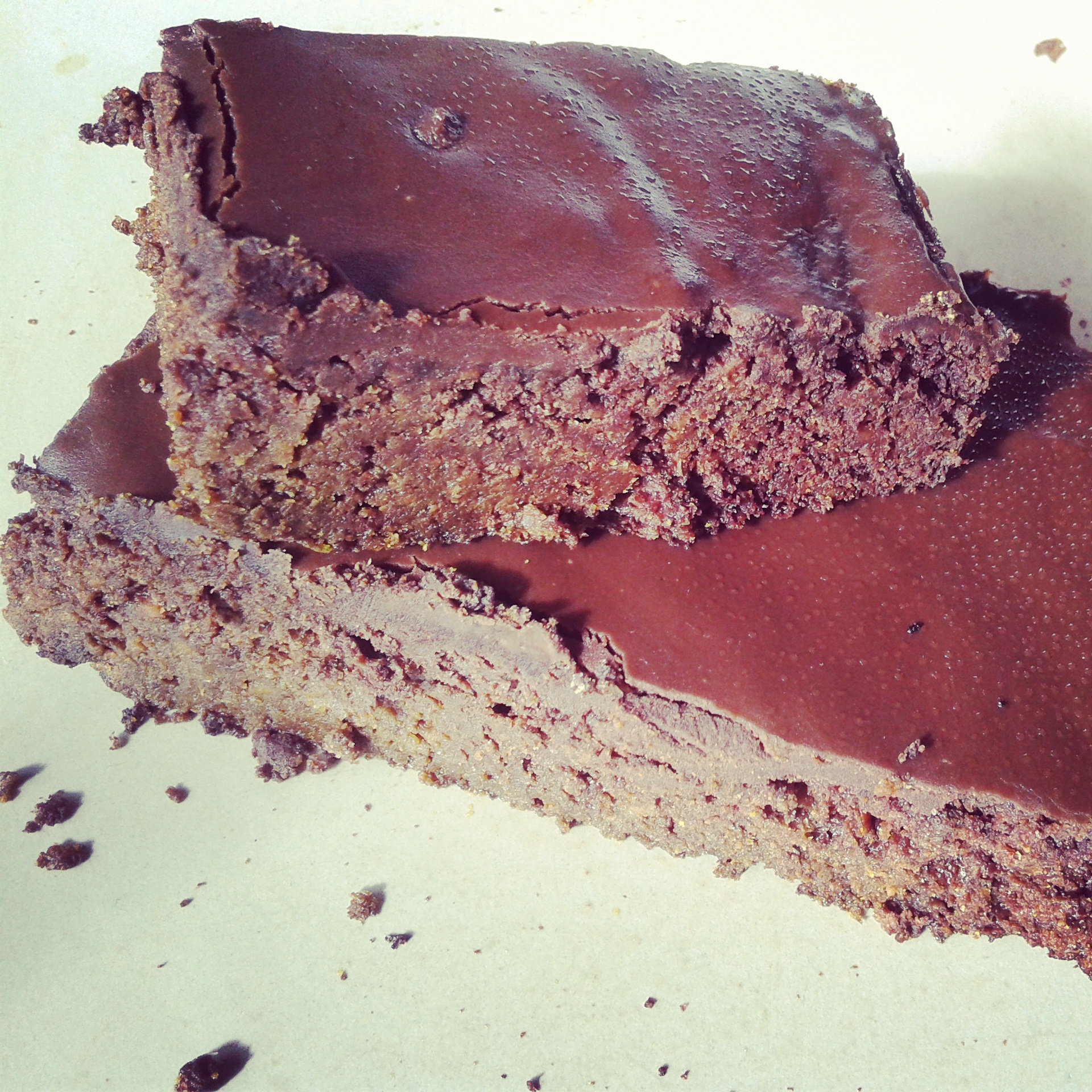 Grain, dairy, nut and sugar free brownie