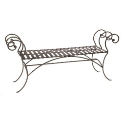 Small Crop Of Wrought Iron Bench