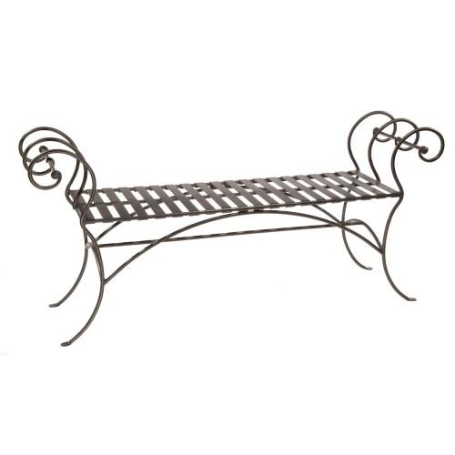 Medium Crop Of Wrought Iron Bench