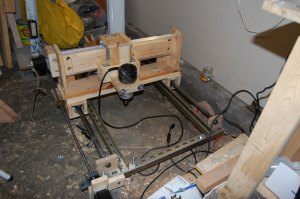 DIY CNC router as it stands