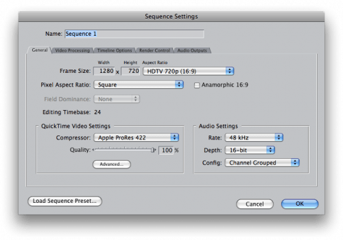 Final cut pro settings for canon 7d slow mo