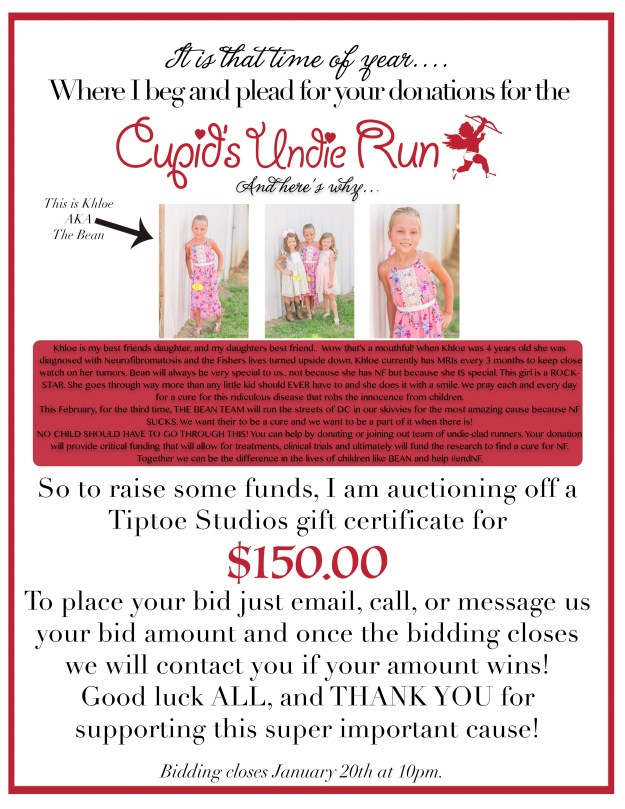 cupids undie run donation flyer